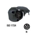 Kärupistiku pesa / 7 pin / Plastik / ISO1724
