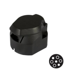 Kärupistik / 7 pin / Plastik / ISO1724