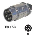 Kärupistik / 7 pin / Alumiinium / 1724